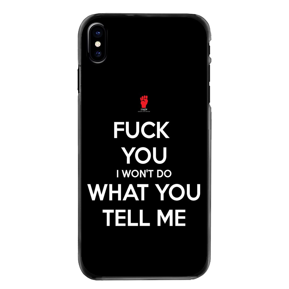 Accessories Phone Bag Case For Huawei P8 P9 P10 Lite Plus 2017 2016 Honor 5C 6 4X 5X Mate 8 7 9 I don't want Do What You Tell Me image