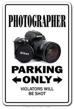 Потертый металл оловянные знаки фотограф парковка винтаж гараж