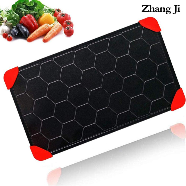 ZhangJi Upgrade Non-Stick Fast Defrosting Tray Rapid Thawing Plate Board Safe Thaw Frozen Foods Meat Fish Fruit Kitchen Tool