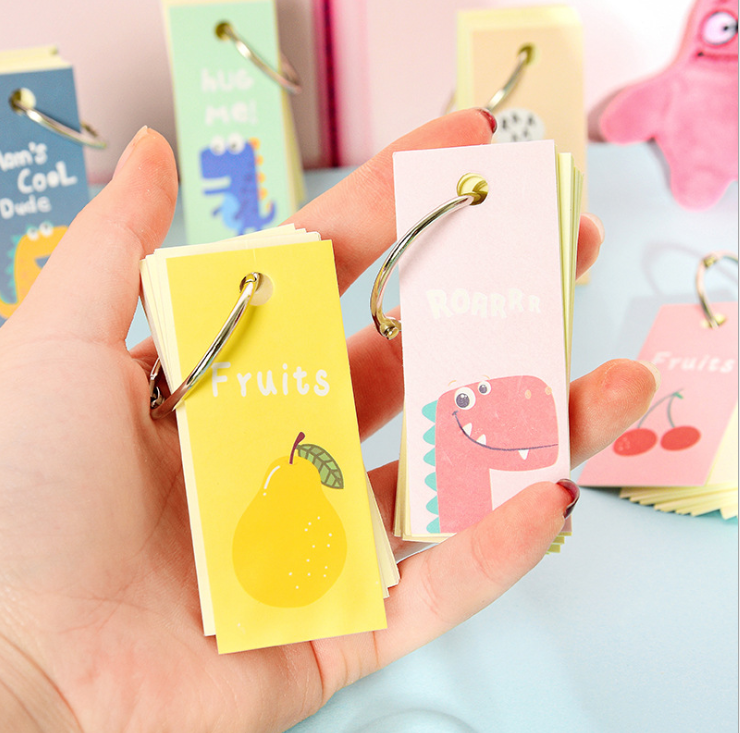 1PC Lovely Portable Mini- Loose-leaf Pocket Notebook Memo Pad Small Stationery Supplies Color Random