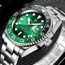 Lige дизайнерские брендовые Роскошные мужские часы Автоматические