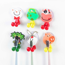 Cute Cartoon Animal Wall-Mounted heavy Suction Cup Antibacterial Toothbrush Holder Hook Single Toothpaste