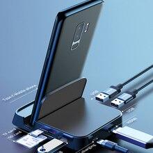 Док-станция Baseus USB Type-C для Samsung S20, док-станция для Dex Pad, док-станция USB-C to HDMI-совместим с USB 3,0, SD, TF-картой, PD адаптером