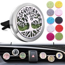 New Detachable Car Air Diffuser Locket Tree of Life Stainless Steel Vent Freshener Car Essential Oil Diffuser Perfume Necklace wire connectors 222 412 413 415 mini fast wire cable conectors universal compact wiring conductor push in terminal block china