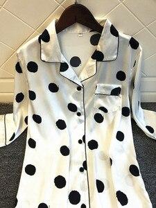 Image 3 - Женская ночная рубашка с принтом, шелковая ночная рубашка с коротким рукавом, атласная ночная рубашка, весна лето 2020
