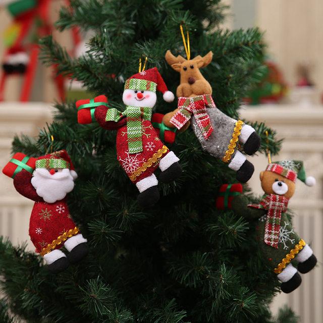 New Year 2020 Cute Santa Claus/Snowman/Angel Christmas Dolls Noel Christmas Tree Decoration for Home Xmas Navidad 2019 Kids Gift 24