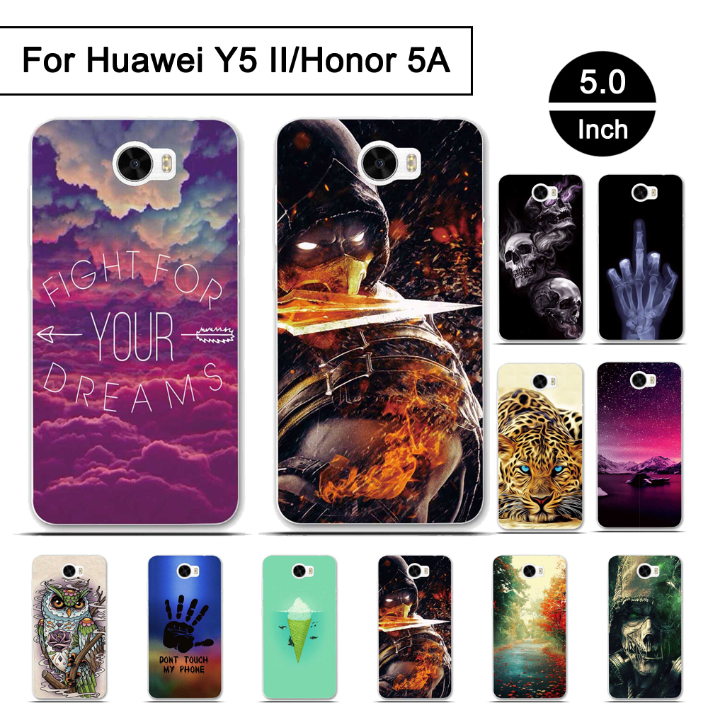 Case For <font><b>Huawei</b></font> Y5 II Honor 5A Soft TPU Phone <font><b>Cover</b></font> For <font><b>Huawei</b></font> Y5 2 Honor 5 A Back Phone Shells For Huawwei Y5 2 LYO-L21 <font><b>CUN</b></font>-<font><b>U29</b></font> image