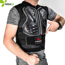 WOSAWE Sleeveless Back Support Protective Vest EVA Pad Snowboarding Skiing Sports Safety Jackets Protection Cycling Windbreaker