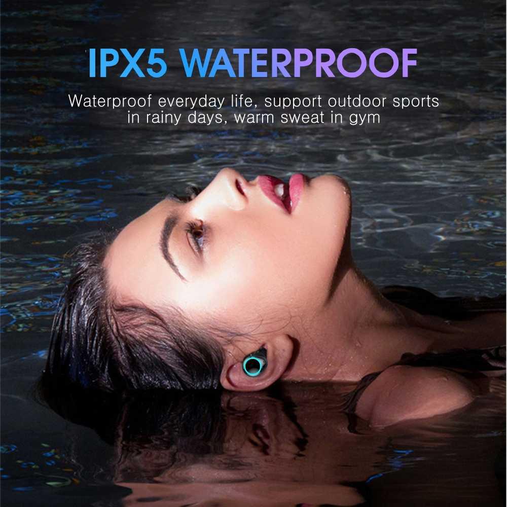 Votoon TWS настоящие беспроводные наушники Bluetooth V5.0, наушники, Спортивная гарнитура, наушники с управлением ии, 2500 мА/ч, светодиодный, умный внешний аккумулятор