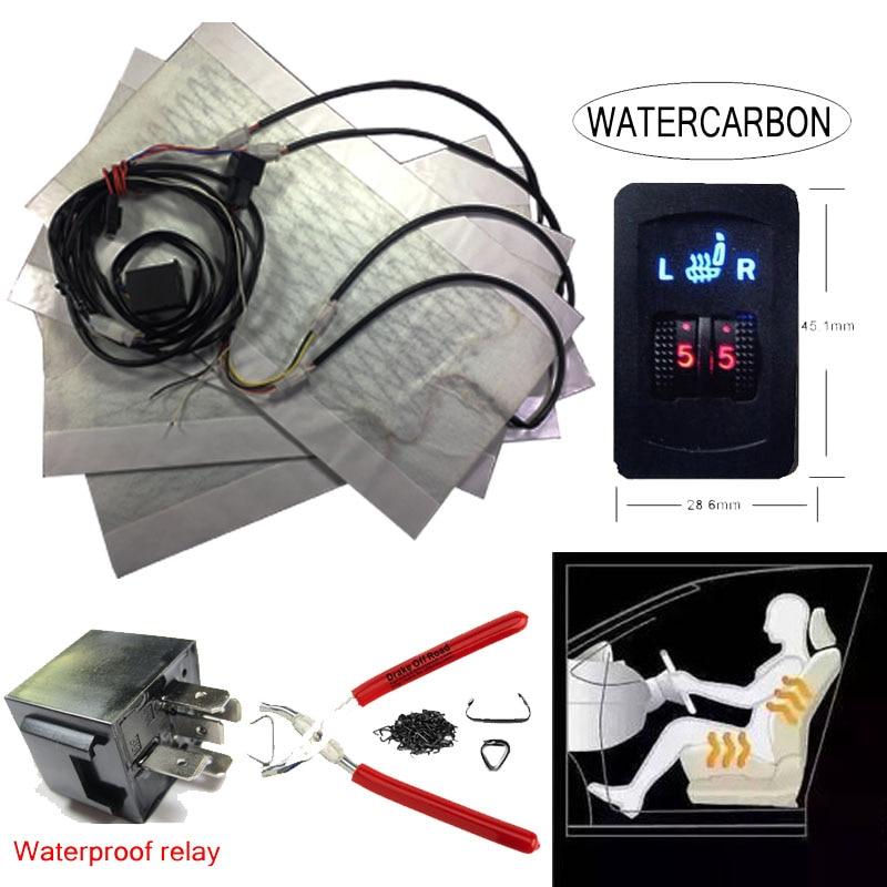 Auto seat Heated Car Seats Warmer Cover  heater Seat pad heated seats retrofit kit Universal Heated seats round switch