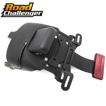 Motorcycle Black Rear Fender Mount License Plate LED Light For Harley Sportster XL 883 1200 48 04-14