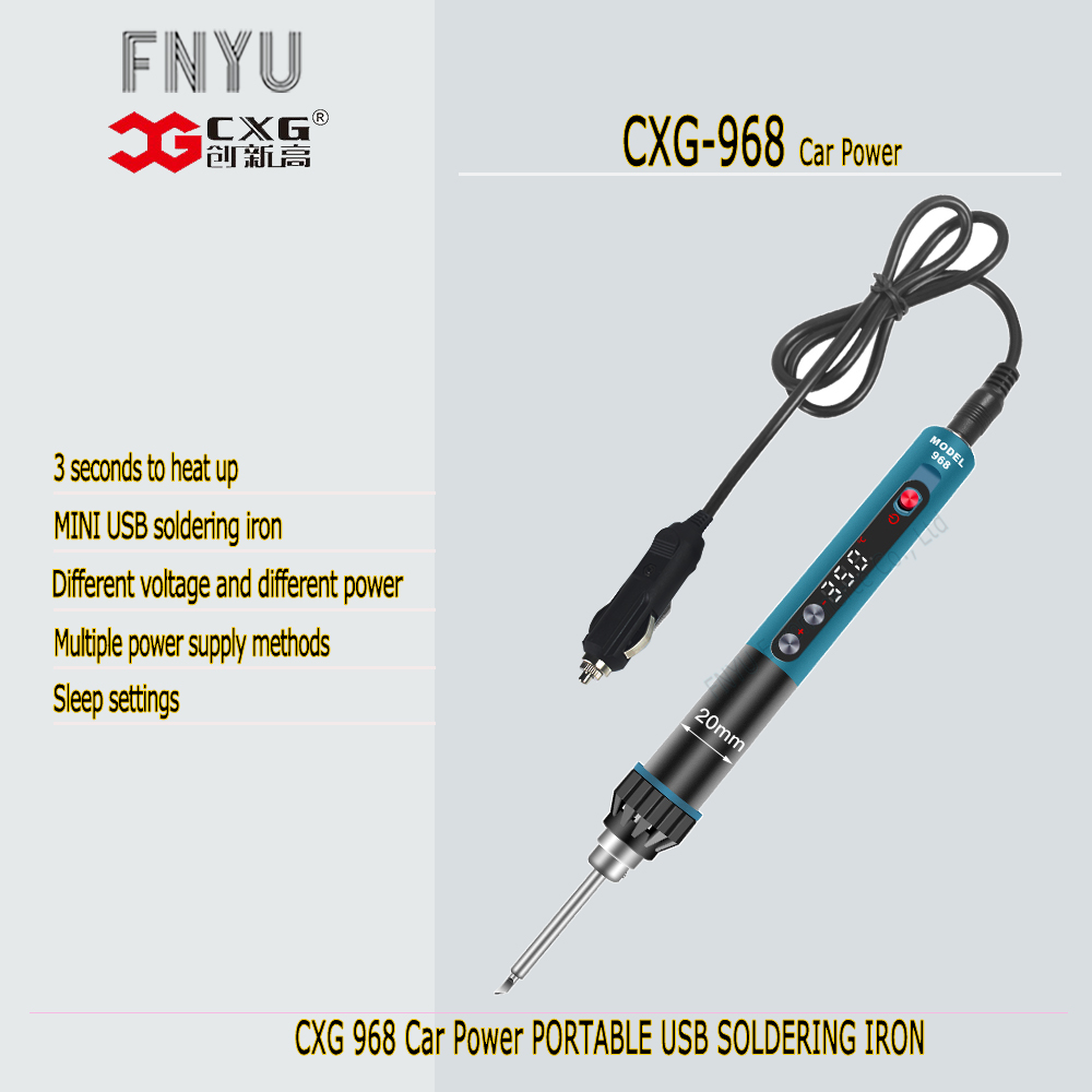 Soldering USB Adaptive 5 SOLDERING MINI Iron IRON Adjustable LED CXG Welding Display 24V Tools SOLDERING Electrical IRON 968