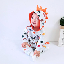 Children's Clothing 2019 Autumn Dinosaur Style Baby Boy Clothes Baby Onesies Christmas Newborn Romper Knitted Baby Clothes