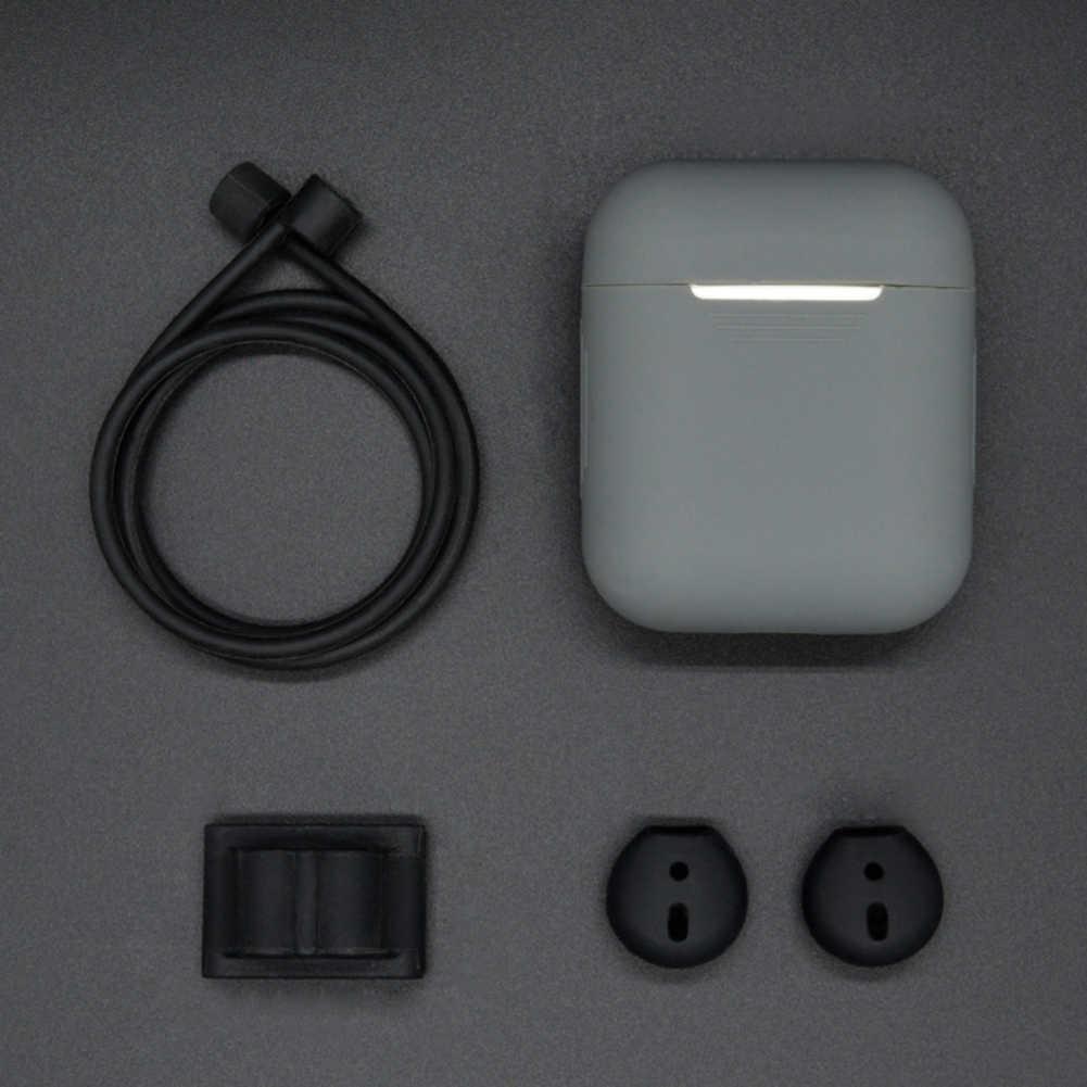 5 w 1 10 kolorów etui na słuchawki douszne Bluetooth bezprzewodowy zestaw słuchawkowy do słuchawki Airpods + pasek na szyję uchwyt na zegarek zaczep na ucho pokrywa