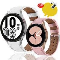 Für Samsung Galaxy Uhr 4 Klassische 42mm 46mm 40mm 44mm Strap Leder Smart Uhr Band Bildschirm schutz film