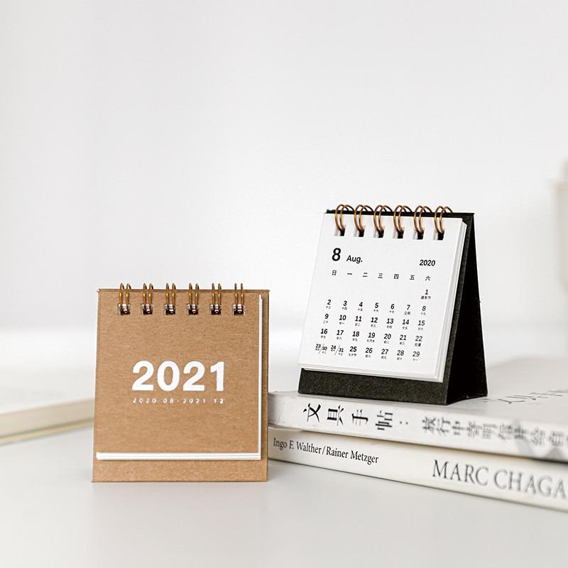 8 pcs lote 2021new mini calendario calendario 01