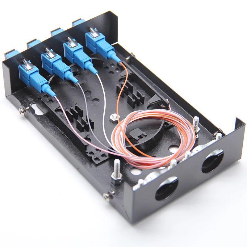 Fiber Optic Terminal Box 4 Core Desktop Type SC PC UPC With Adapter Pigtail 4 Ports Fiber Optical Patch Panel