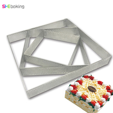 Square Stainless Steel Cake Making Molds Pizza Fruit Pie Pastry DIY Decoration Mould Practical Kitchen  Bakeware Baking Tools christmas decor wood rolling pin for bakeware pizza cookie tools baking pastry waffle molds pie new year party diy decorations