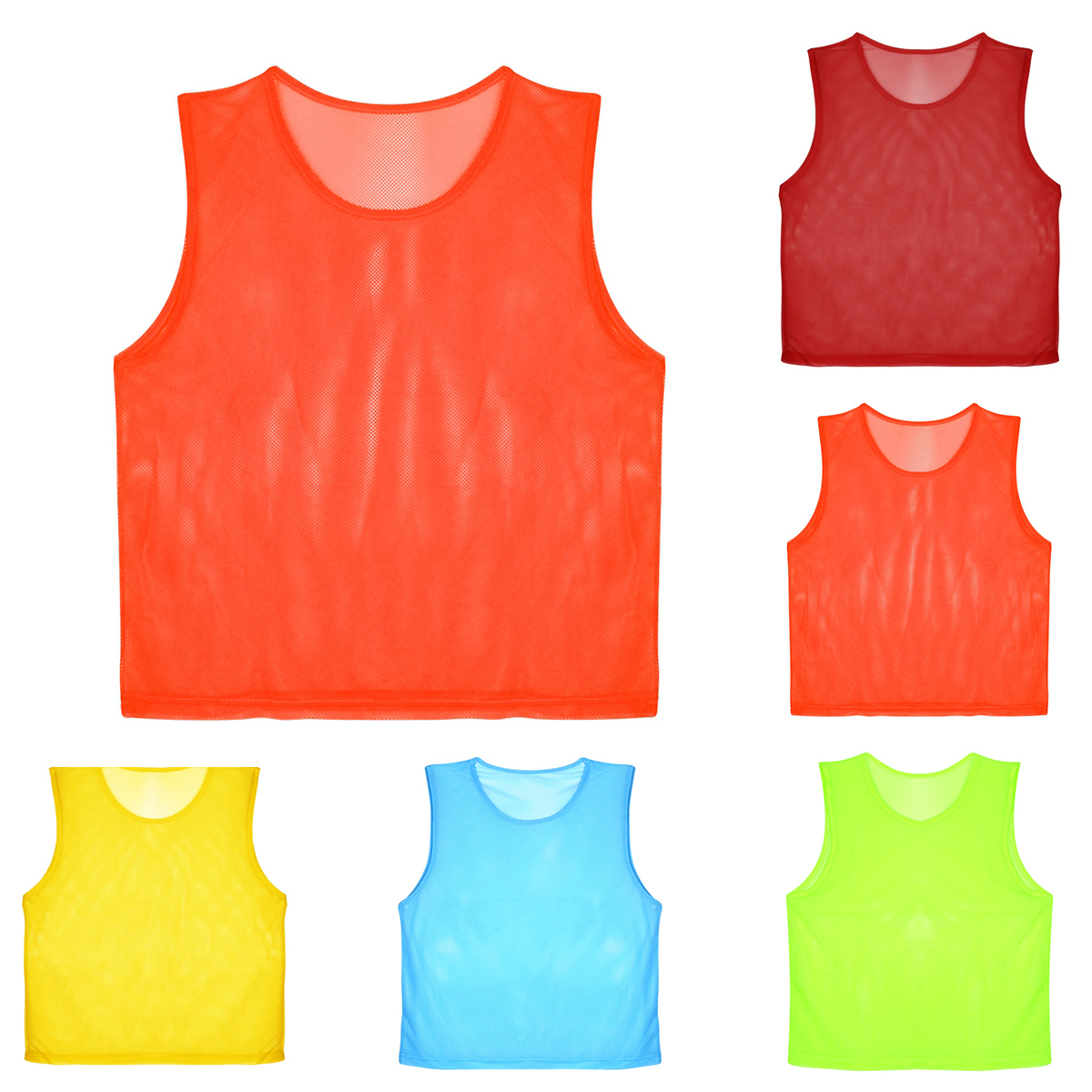 12 PCS Children Kid Quick Drying Basketball Jersey Team Sports Football Vest Soccer Pinnies Jerseys Youth Practice Training Bibs