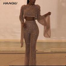 2019 Rompers womens jumpsuit korean sexy backless party sequin Jumpsuit