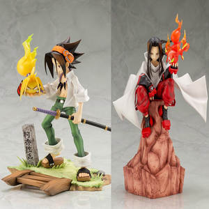 22cm ARTFX J Anime Shaman King Figure Yoh Asakura And Hao 18 Scale Action Figure Toy Christmas Gift