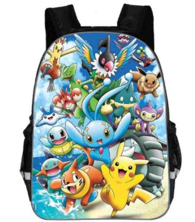 New Cute Anime Cartoon Pikachu Backpack Pokemon Cosplay Printing Backpacks School Bags Teenager Girls Boys Mochila Feminina Bag