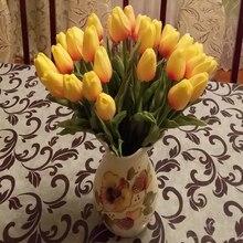 Bridal Bouquet Tulip Artificial-Flowers Wedding-Decoration Garden Real-Touch 30pcs