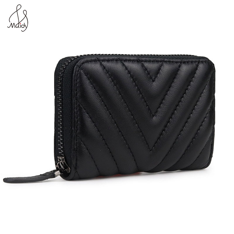 Luxury Women Genuine Leather Diamond Lattice Clutch Bag Short Wallet Pattern Buckle Wallet Simple Ladies Card Holder Coin Purse