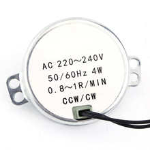 1pc 220-240V AC Synchronous Motor Geared Motor 4W CW/CCW Electric Motor 0.8-1RPM / 2.5-3RPM / 5-6RPM / 8-10RPM