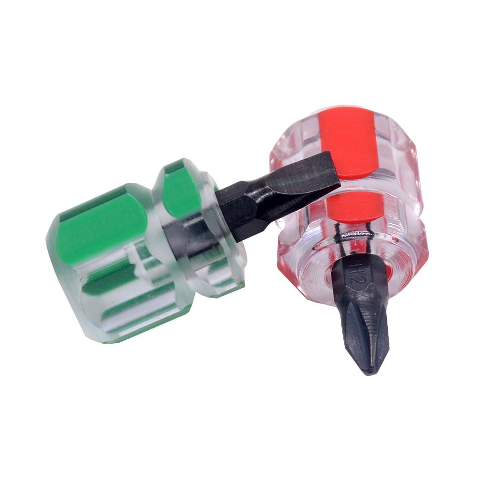 1 adet tornavida takımı seti küçük taşınabilir turp kafa tornavida şeffaf saplı tamir el aletleri araba tamir için