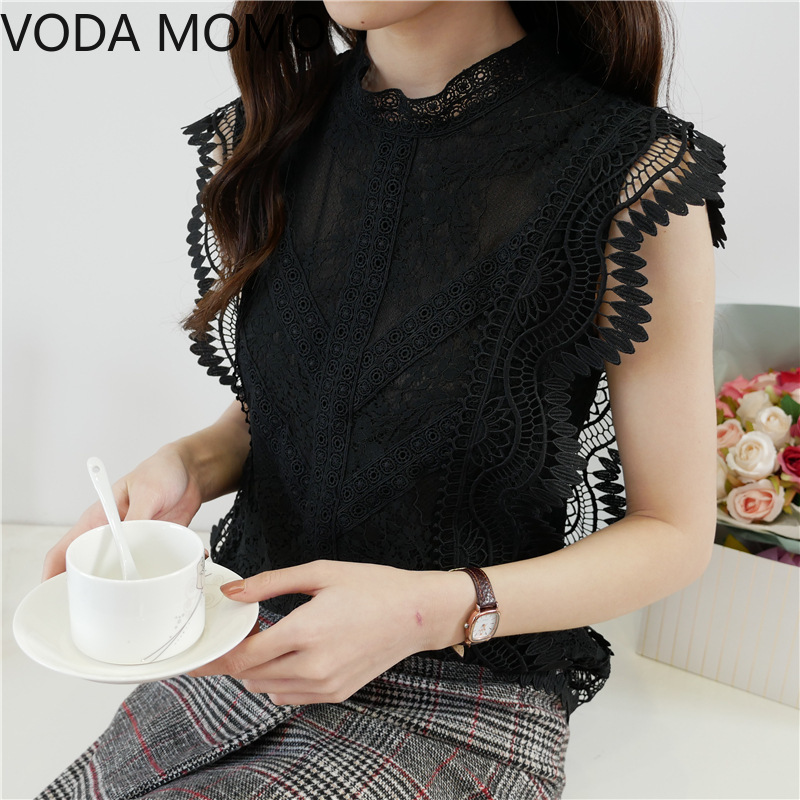 summer sleeveless ruffless women's shirt blouse for women blusas womens tops and blouses lace sexy shirts ladie's top plus size|Blouses & Shirts| - AliExpress