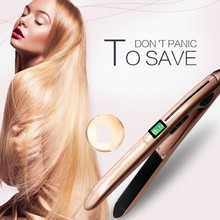 1Pc Professional High Quality  Ceramic Steam Care Hair Straightener Curler Tool hair Styling Volume Straight clip