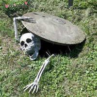 Horror Halloween Party Decoration Plastic Lifelike Skull And Hands For Halloween Haunted House Graveyard Cosplay DIY Home Garden