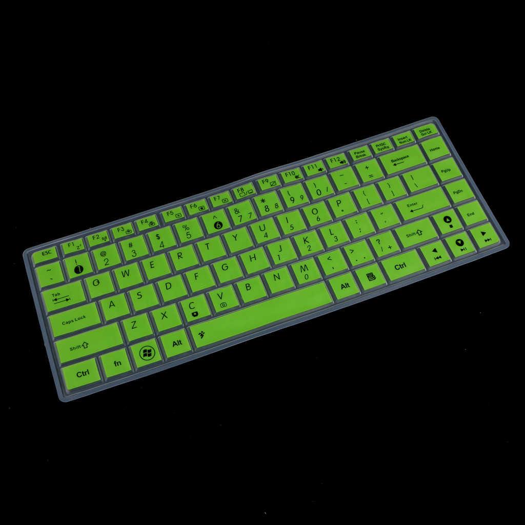 防水シリコーンキーボードプロテクター Asus K40 P80 P81 グリーン