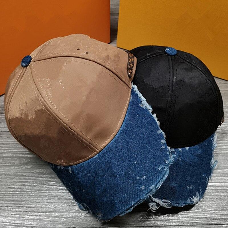 Luxury Brand Fashion Mens Womens Jean Sport Hat Casual Denim Baseball Cap Sun Hat Comfortable Fabric Breathable Hat Snapback