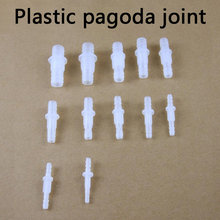 Plastic pagoda joint PP Thread Hex Nut PP Straight Connectors Aquarium Fish Tank Adapter Air Pump Hose Fittings Pagoda Joints