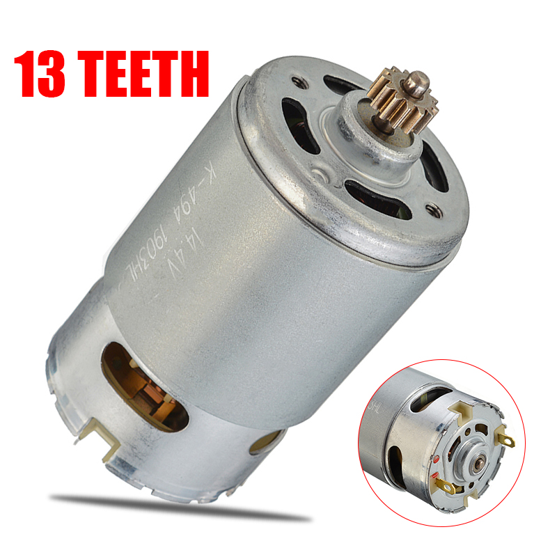 Motor RS550 13 Teeth Gear 14.4V/13 Replace Motor for GSR14.4-2-LI PSR14.4LI-2 PSB1440LI-2 Cordless Drill image