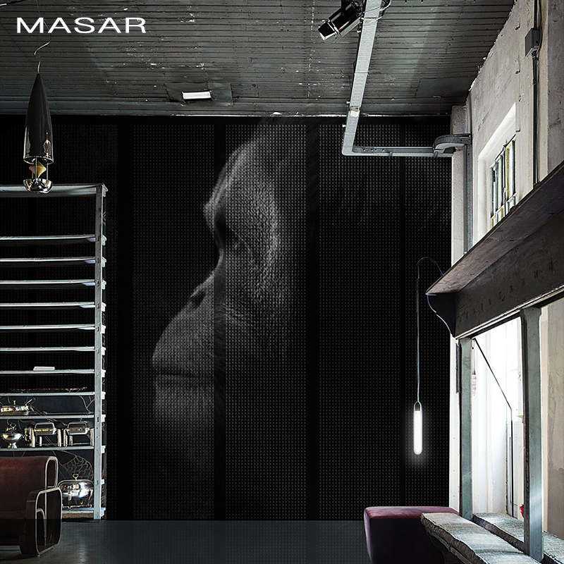 MASAR High-end Art Murals Black And White Color Orangutan Living Room Hallway Background Wall Wallpaper Caesar