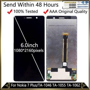 Image 1 - สำหรับ Nokia 7 Plus จอแสดงผล LCD หน้าจอสัมผัสเปลี่ยน LCD สำหรับ Nokia E7 PLUS TA 1062 TA 1046 TA 1055 LCD