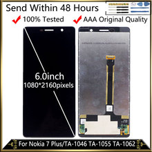 Per Nokia 7 Più DIsplay LCD Touch Assemblea Sostituzione Dello Schermo A CRISTALLI LIQUIDI Per Nokia E7 Più Il TA 1062 TA 1046 TA 1055 LCD