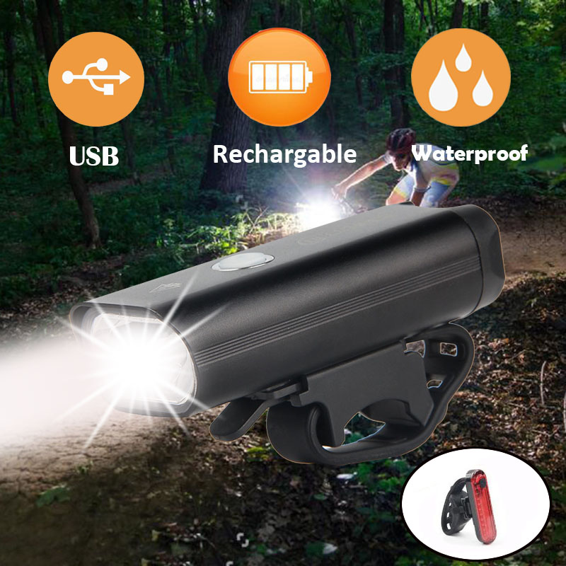 Bicycle Light Handlebar Light Waterproof USB Charging Red Light Outdoor Cycling Warning Safe Lights Bike Accessories