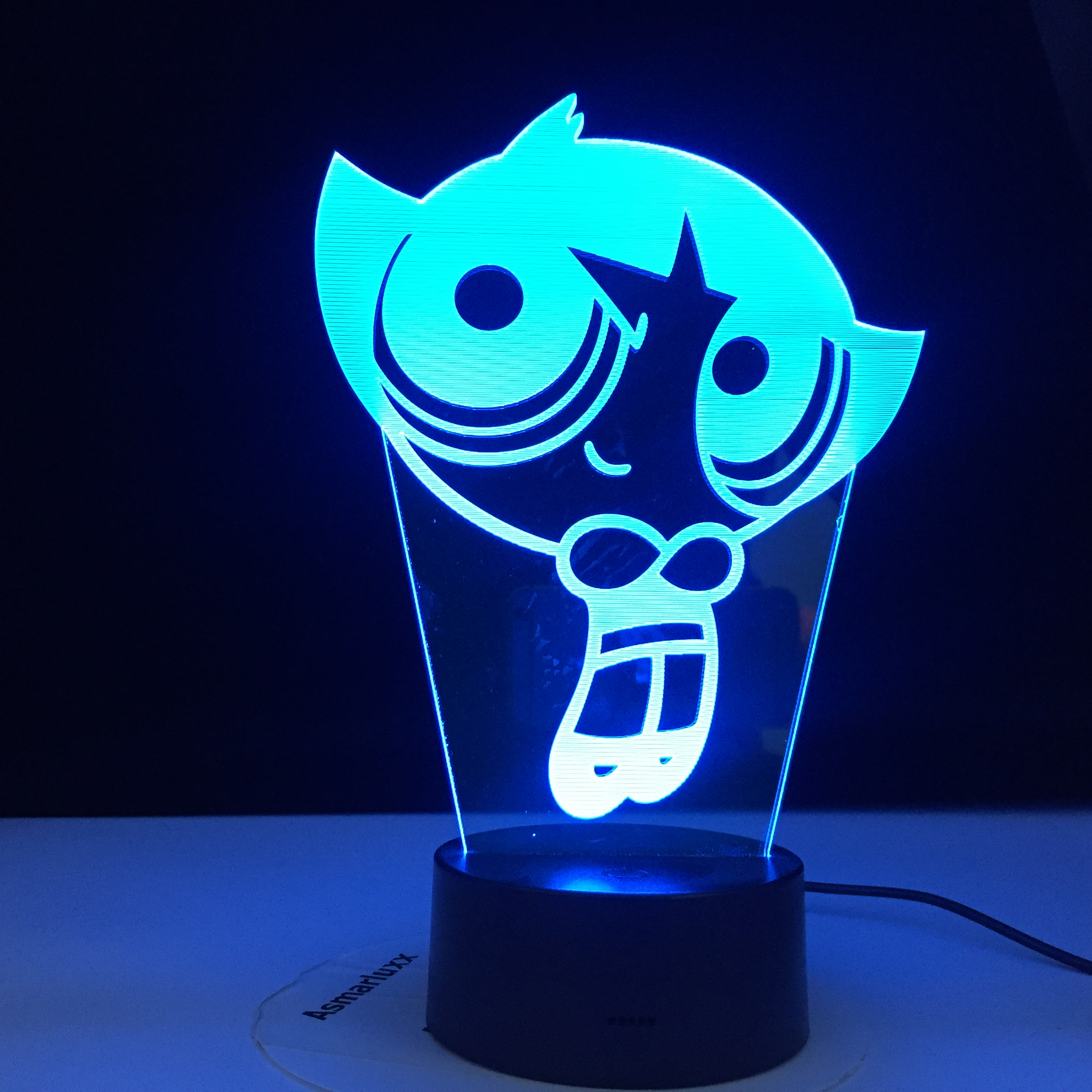 Powerpuff Girls Buttercup Figure Nightlight For Girl Bedroom Decorative USB Battery Powered Night Lamp Baby Night Light Gift