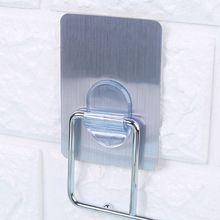 1 шт. самоклеющиеся крючки на клею на двери настенный держатель для подножки висячая стойка для хранения дома кухонные крючки для организации 2 цвета