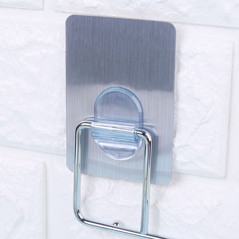 1PC Self Adhesive Sticky Hanger On Door Wall Peg Holder Hanging Storage Rack Home Kitchen Organizing Hooks 2 Colors