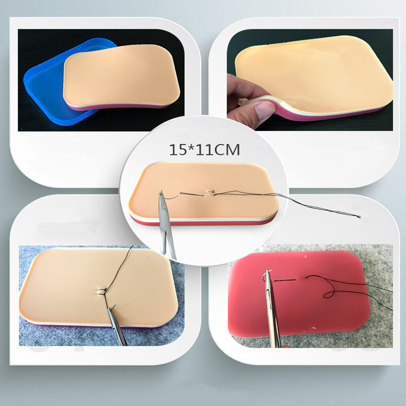 Surgical suture instrument kit medical student tool kit  suture practice model with needle Simulated skin model 12 15pcs/set|  - title=
