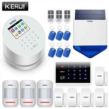 KERUI W2 WIFI GSM PSTN система сигнализации, умный дом безопасности инфракрасный детектор движения ворота магнитный переключатель для сигнализации