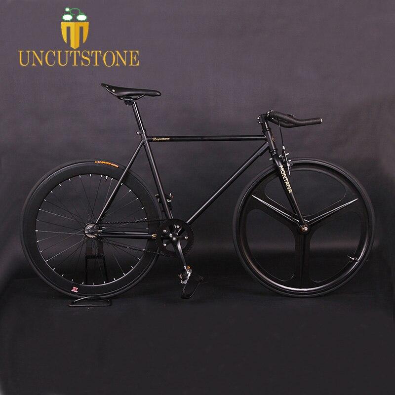Track bike  Magnesium Alloy Wheel 3 spokes fixie Bicycle Fixed gear bike 700C wheel bike 52cm FRAME  BIKE Completed Road Bike