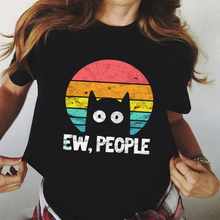 New Graphic Tees Tshirt Aesthetic Ew People Cat Harajuku Women T-shirts