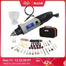 HILDA Mini taladro eléctrico con 6 posiciones y velocidad Variable, Dremel, 220V, 400W, herramientas rotativas, Mini herramientas eléctricas de molienda