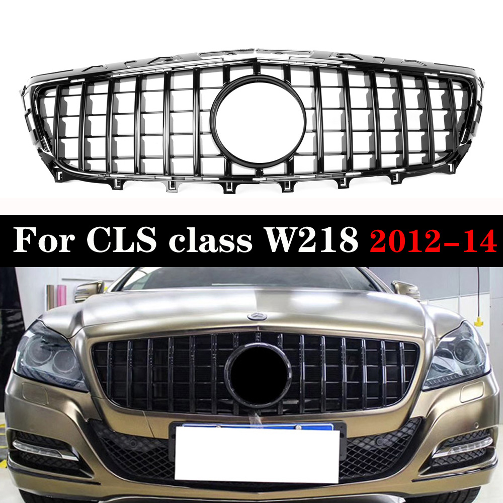<font><b>W218</b></font> pre-Facelift for Mercedes CLS Class <font><b>W218</b></font> GT <font><b>Grille</b></font> 2012-2014 Replacement Mesh Car Accessories Front Bumper Without Emblem image